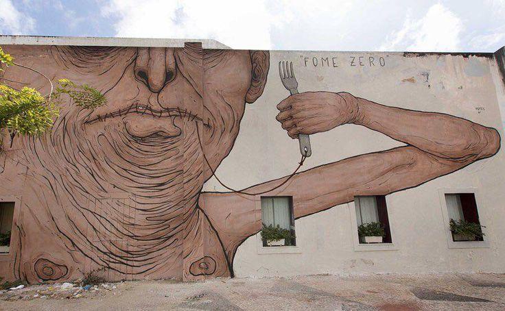 """NemO'S, """"Fome Zero"""" for Festival Concreto in Fortaleza, Brazil, 2015"""