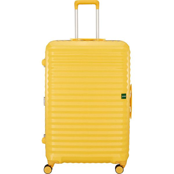 "Lojel Groove 2 31.5"" Large Spinner - Yellow - Checked Luggage ($250) ❤ liked on Polyvore featuring bags, luggage, suitcase and yellow"
