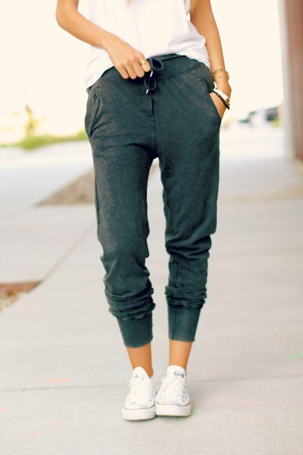 harem pants + white t