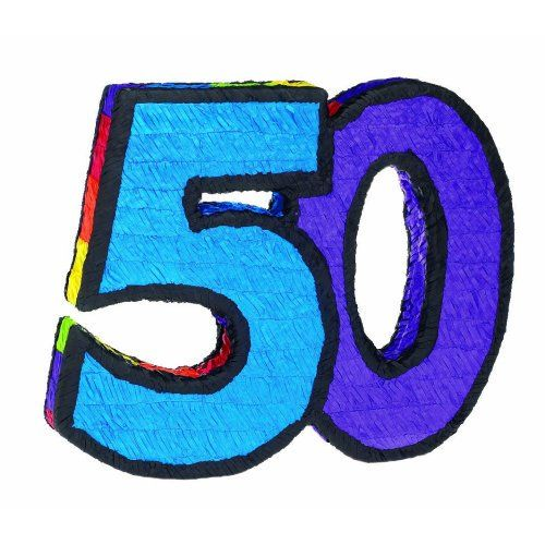 "Pinata ""50"" (1 per package)"