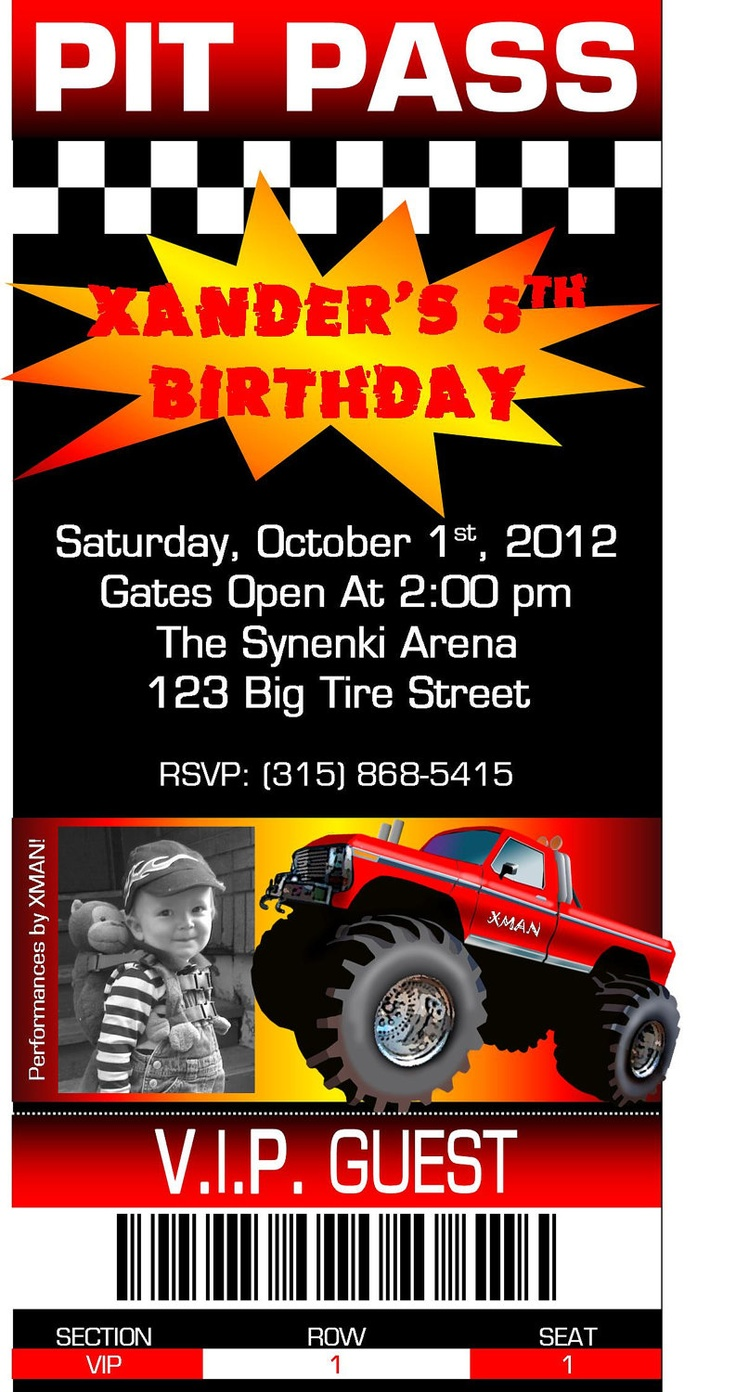 117 best Monster Truck Birthday images on Pinterest | Birthday party ...