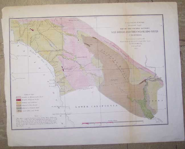 Map Of The Country Between San Diego And The Colorado River California U S Coast Survey