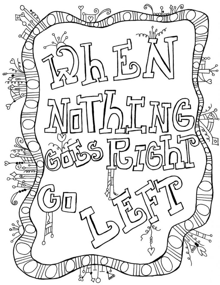 Coloring Quotes | Quote coloring pages, Free adult ...