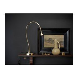 Great IKEA JANSJ LED work lamp gold You can easily direct the light where you want it because the lamp arm and head are adjustable