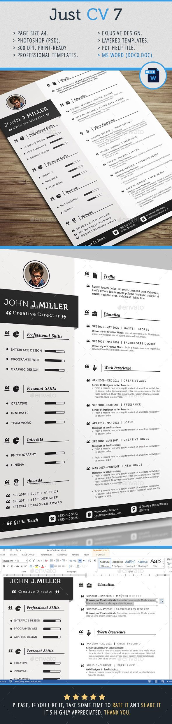 images about curriculum vitae infographic just cv template design print graphicriver net