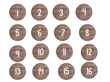 These cute shiplap numbers could be used for anything in your classroom! The lunch tags I use for my lunch choice check in board.