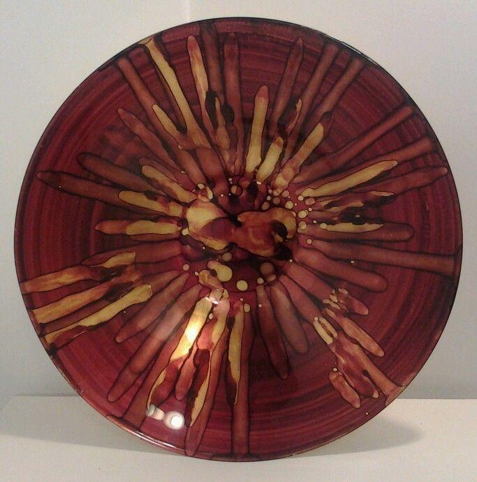 Large glass bowl #handcrafted #glassworks #glassart
