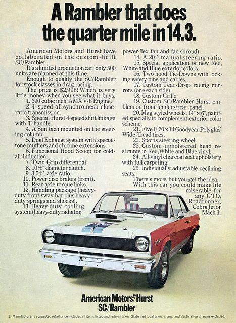 Amc Retired The Rambler Name In 1969 It Went Out With A