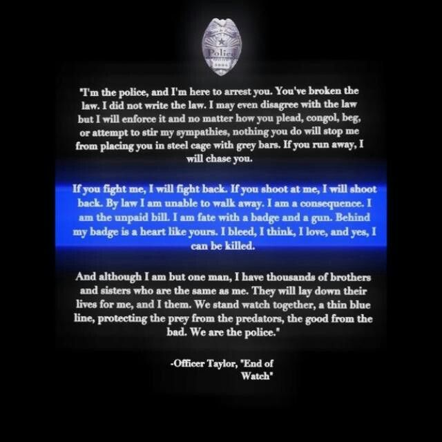 End Of Watch Quotes: 70 Best Blue Line Images On Pinterest