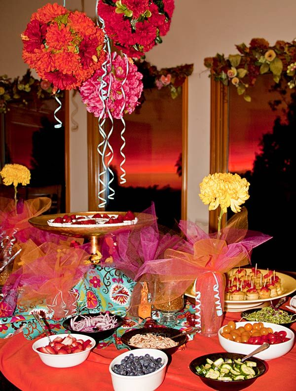 Dole Spanish Party Table Sunset Jpg 600 793 Pixels