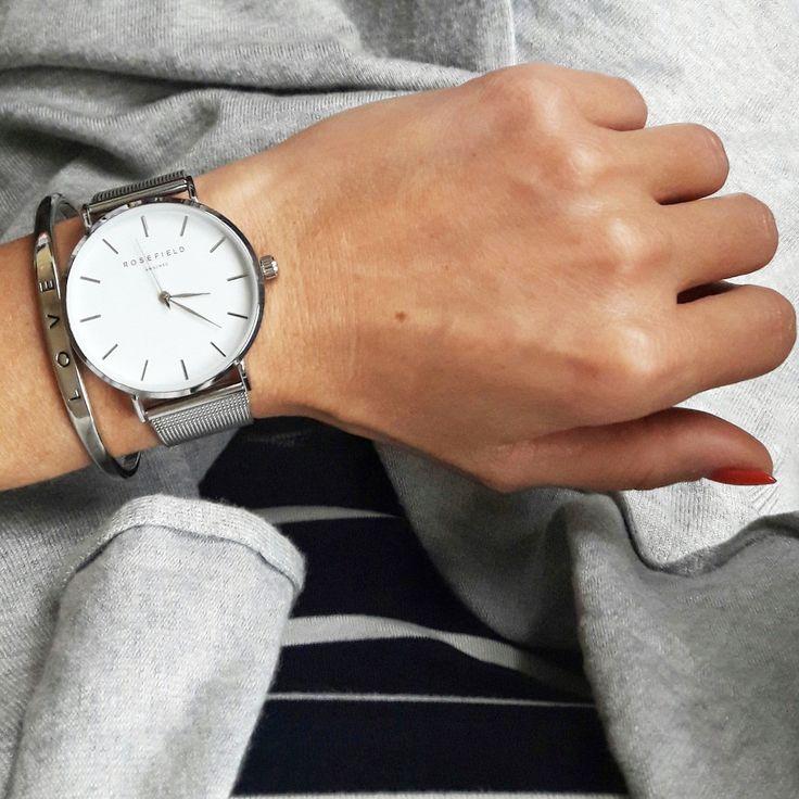Watch, rosefield, silverwatch,   outfit, detalils