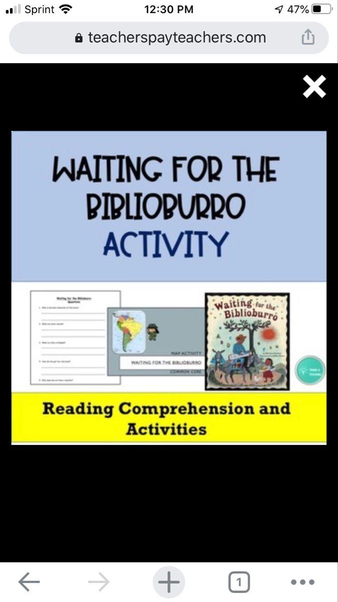 Waiting For The Biblioburro Activity Comprehension Questions Reading Comprehension Questions Comprehension [ 1200 x 675 Pixel ]
