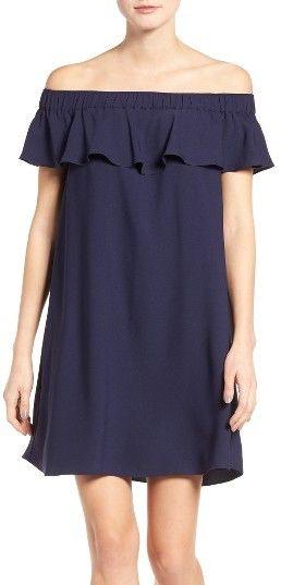 Women's Chelsea28 Off The Shoulder Crepe Dress