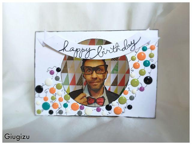 Ciao a tutti e benvenuti ad un nuovo giovedì card!  Oggi vi mostro il biglietto di auguri che ho creato per il compleanno del mio maritino a...