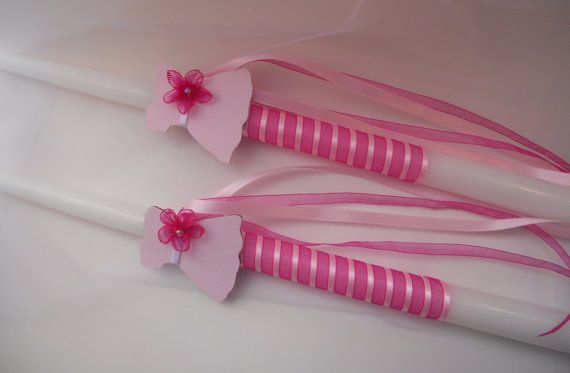 Small candles for Orthodox baptism by KaramelaC on Etsy