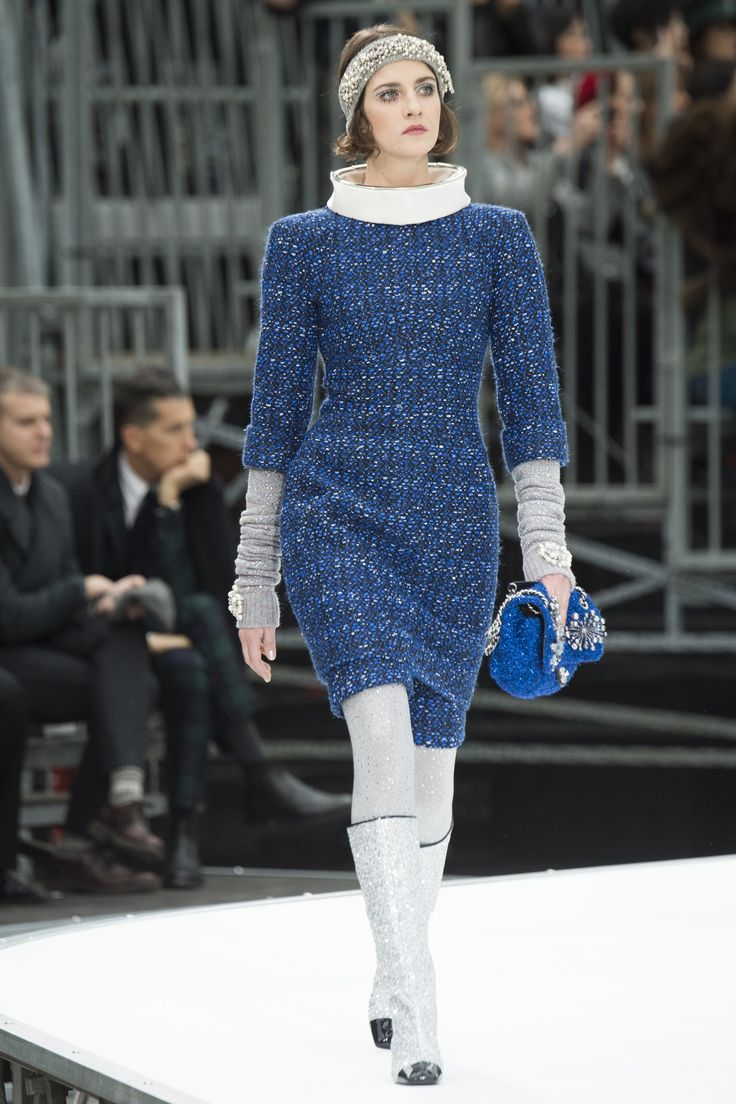 Chanel Fall 2017 Ready-To-Wear: Look 28. Model: Cris Herrmann