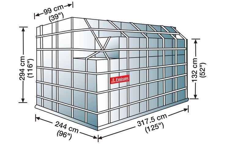 "PMC Q4 Freighter Only    Volume: 17 cubic metres   Standard Tare Weight: 110 kgs.   Max Gross Weight: 6,804 kgs (Subject to aircraft bay/position maximum)     Note: Contour code: L, Max. height: 116"", Base: 96"", Top length: 39""   Max height at contour side: 52"""