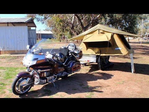 Time Out Motorcycle Camper Setup - YouTube