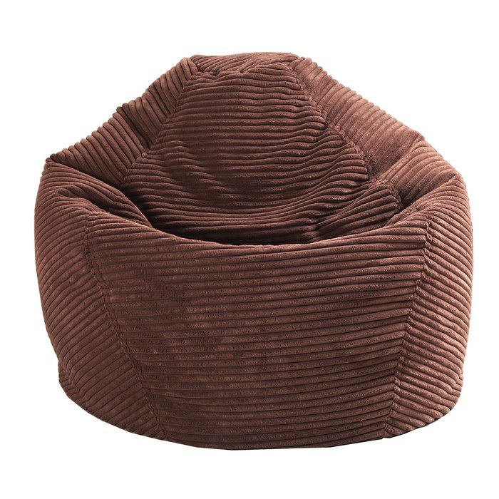 Whether lounging in front of the TV, reading a good book or sitting with the family and sharing stories, this delightful bean bag chair makes for a perfect place to relax. Made with double-stitched, ribbed fabric panels and polystyrene bean fill, this charming chair fits right in with a classic seating ensemble. Roll out a chevron area rug in the middle of your living room to define the space, then arrange a linen Lawson sofa, a button-tufted club chair, and this bean bag chair around an…