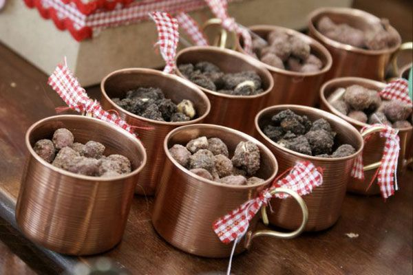 Farm Theme: Serve treats in vintage tin mugs