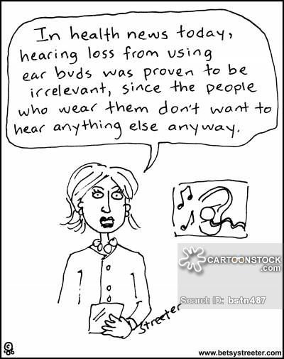 Earbuds Cartoons and Comics - funny pictures from ...