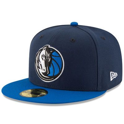 Men's New Era Navy/Light Blue Dallas Mavericks Official Team Color 2Tone 59FIFTY Fitted Hat