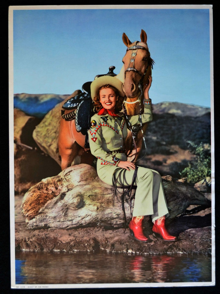 Vintage Cowgirl Pin Up Quot Queen Of The Rodeo Quot Calendar