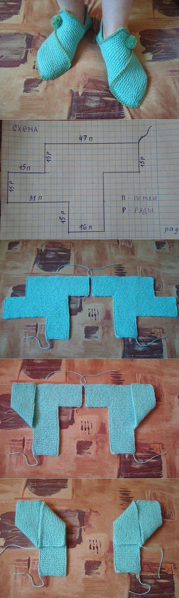 Тапочки «Чиполлино» | Букет голубых фиалок | Постила