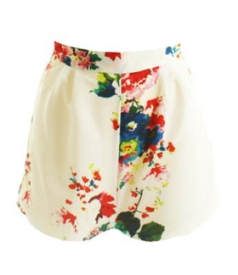 LOVE Label White Floral Hot Pants xxx