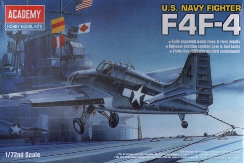 Grumman F4F-4 Wildcat. Academy, 1/72, injection, No.12451. Price: 4,15 GBP.