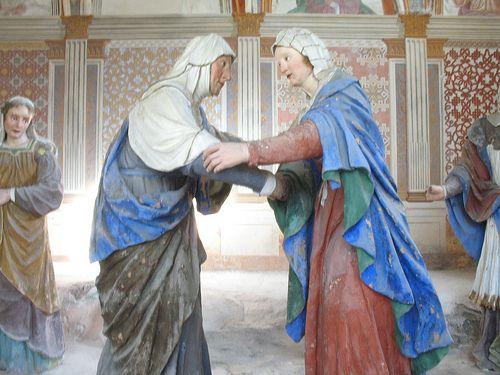 Cappella III - Visitazione di Maria a Santa Elisabetta Sacro Monte Di Varallo VC  #TuscanyAgriturismoGiratola