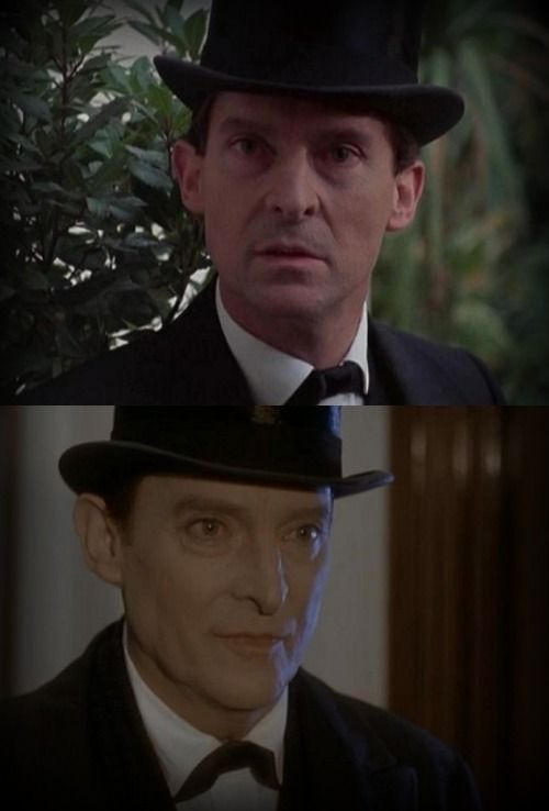 """bookishadventures: """" A tribute to Jeremy Brett Sherlock Holmes, Granada Series. A scene from the first episode """"A Scandal in Bohemia"""" (24 April 1984) and the last episode """"The Cardboard Box"""" (11 April 1994). """""""