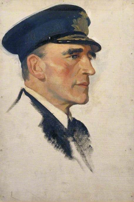 """Sketch of 'Rear Admiral Sir Reginald Y. Tyrwhitt (1870–1951), KCB, DSO'"" by Glyn Warren Philpot (1884-1937).  Imperial War Museums"