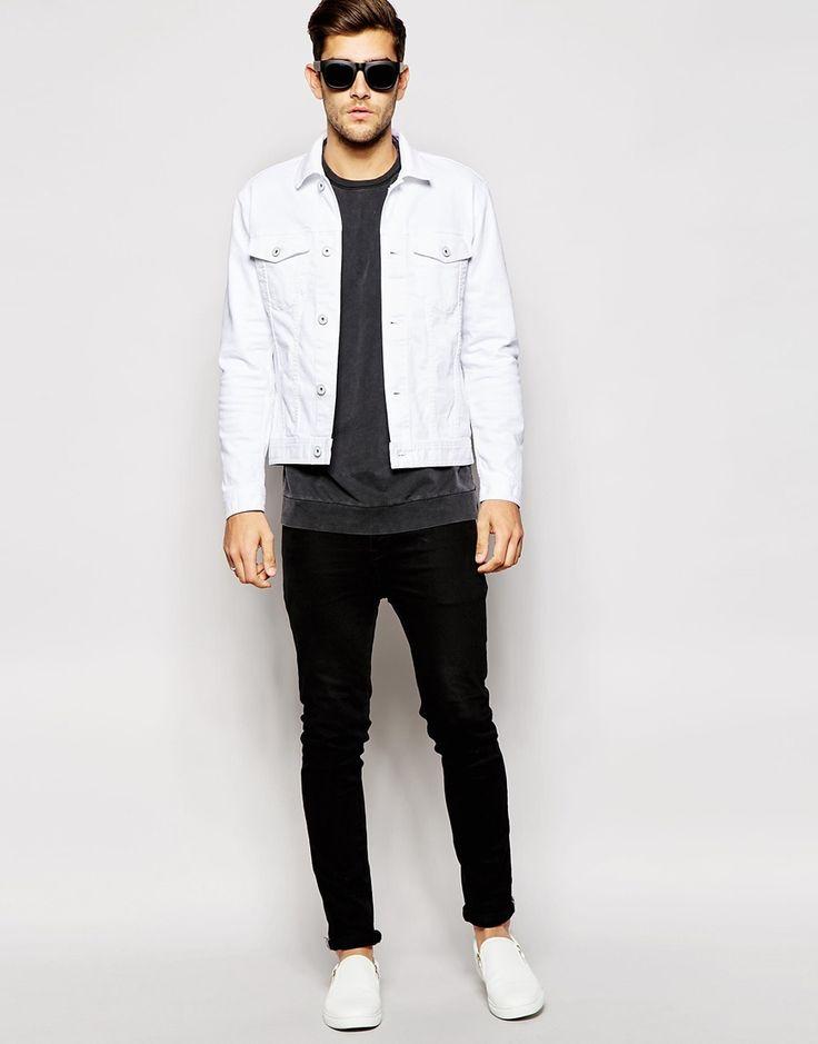 White Denim Jacket - Men