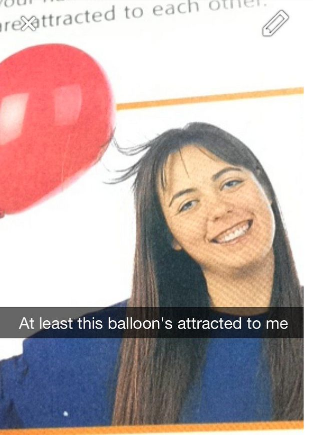 The perfectly captioned balloon snap: | 21 Snapchats With Perfect Captions