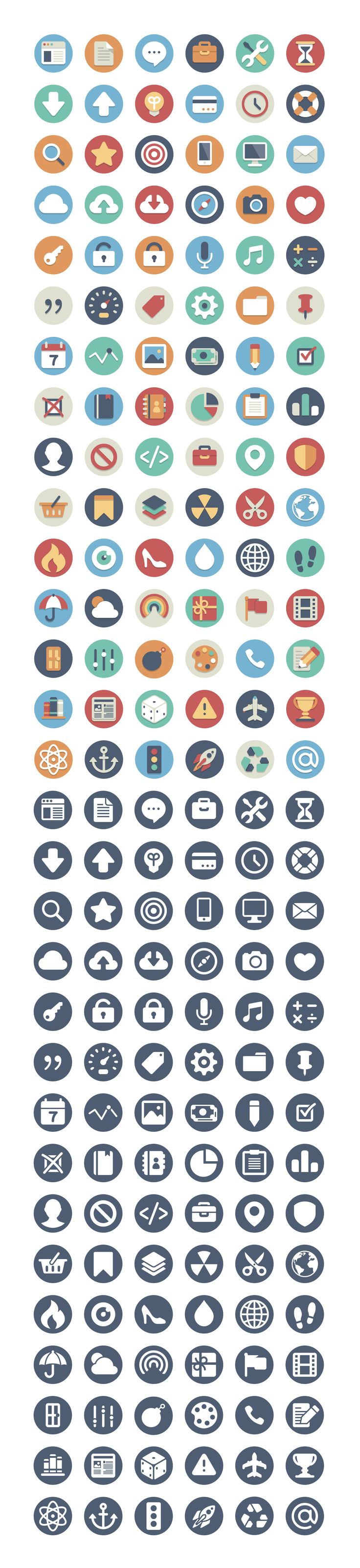 Free Circle Icons-180count by Kenny Sing