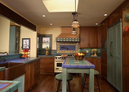 California Mission Style Kitchen