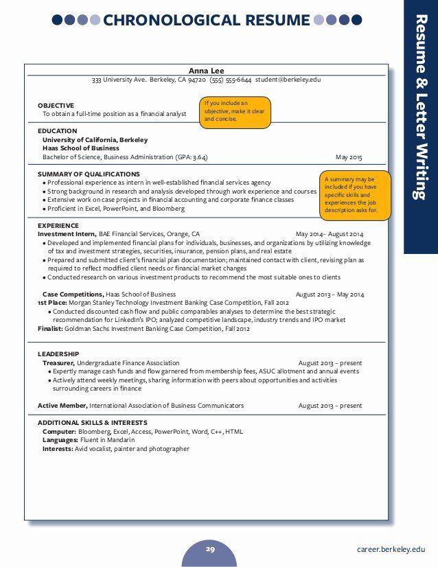 Career Center Berkeley Resume Elegant Resume Writing In 2020 Job Resume Examples Job Resume Samples Good Resume Examples