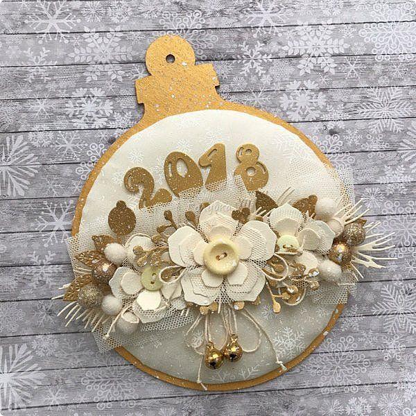 """Продолжаю сама готовиться к Новому году  и помогаю другим:)   Сегодня провела мк по открытке / карточке """" Новогодний шар"""".   фото 1"""