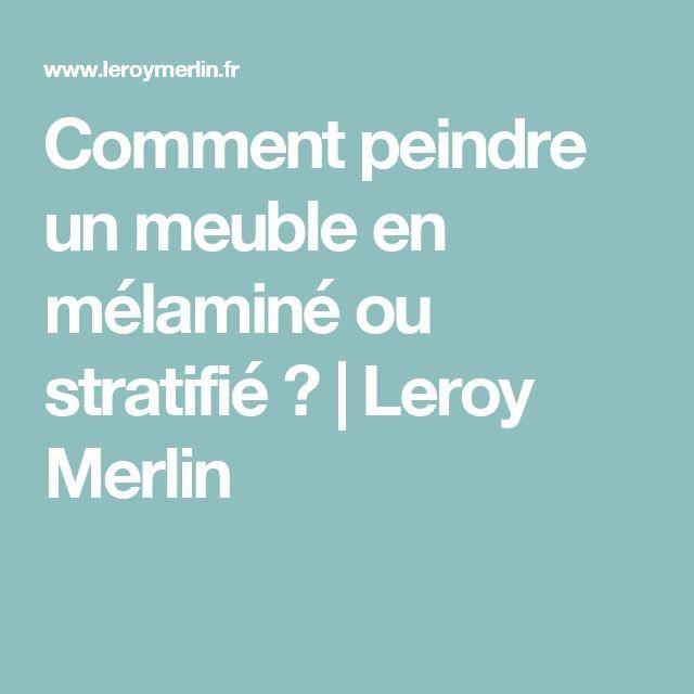 comment peindre un meuble en mlamin ou stratifi leroy merlin - Leroy Merlin Peinture Meuble