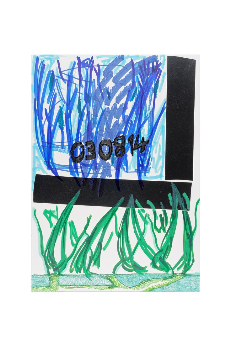 YOSEF JOSEPH DADOUNE  08 08 2014  Border Notes 29,7 x 42 CM Marqueur permanent, marqueur peinture posca, feutres couleurs, crayons de couleur, ruban adhésif toilé gris sur papier Cason imagine 200 g/m² Photo: Aurélien Mole Collection de l'Hôtel des Arts, centre d'art du département du Var