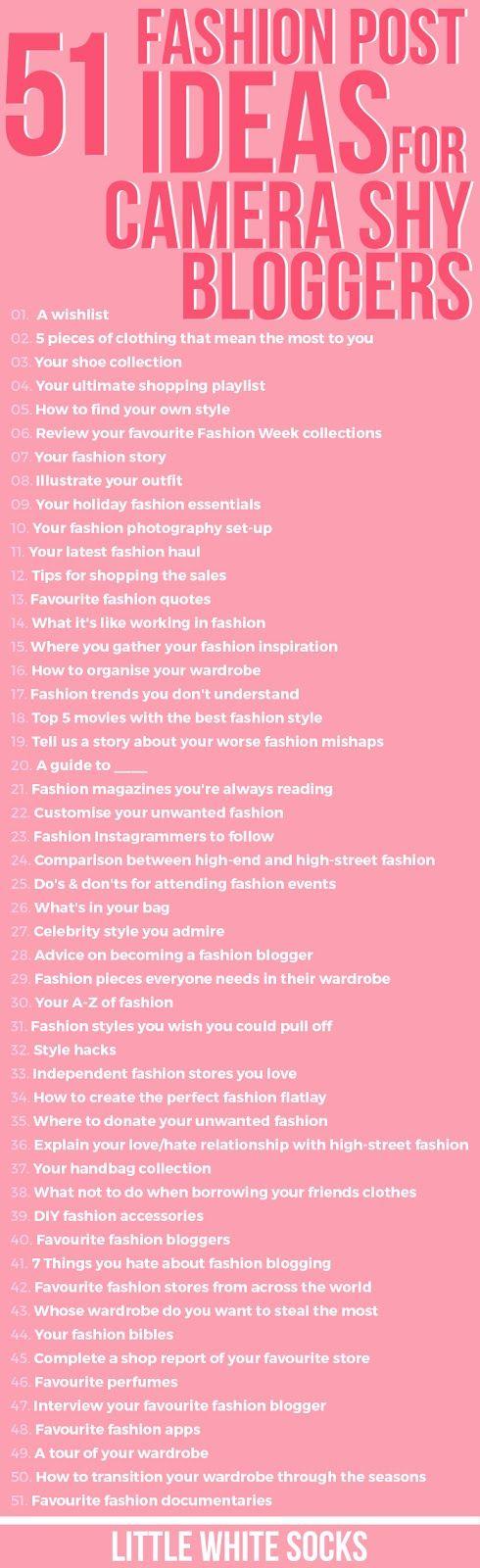 51 Fashion Post Ideas For The Camara Shy Blogger - Little White Socks