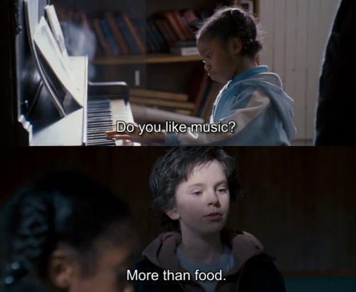 More than food.  #AugustRush Freddie Highmore