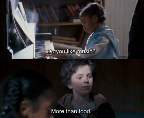 More than food.  #AugustRush Freddie Highmore