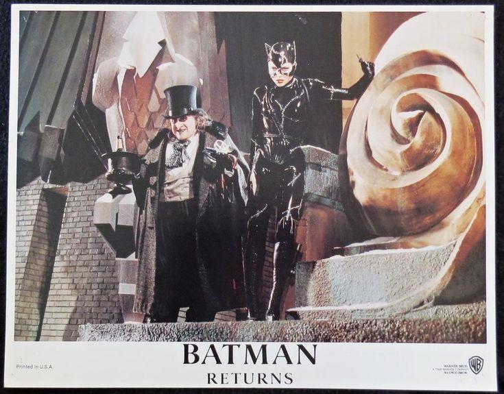 BATMAN RETURNS.. LOBBY CARD ..11X14  From the 1992 Film