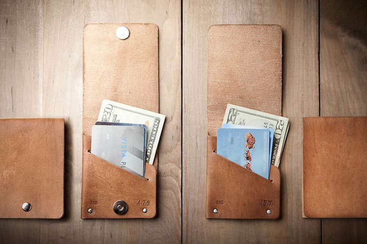Super Slim Leather Wallets - The Jasper Snap Wallet by Mr. Lentz is Compact and Contemporary (GALLERY)