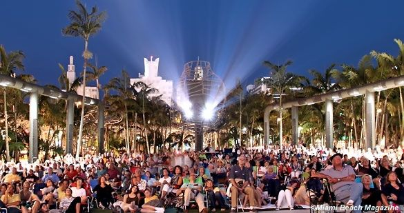 Some of the greatest movies of all times are shown outdoors on a giant screen on South Beach every Wednesday night!