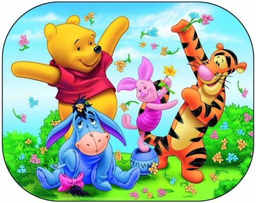 Disney Winnie The Pooh Kids Baby Children Car Window Shades ,High polyester material with vibrant colour print  Suitable for all cars, Easy fitting – fasten to window with  suction cup Lightweight, foldable and easy to carry Protect from harmful sunlight