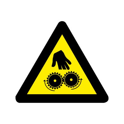Pas på! Fingre i tandhjul - Køb Advarselsskilte nu