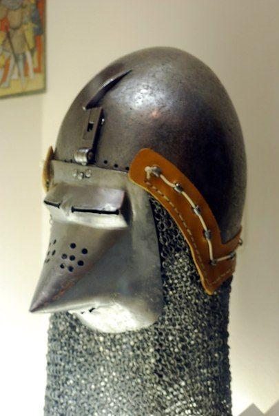 Бацинеты 14-15 век, оригиналы.